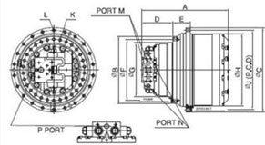 редуктора хода и поворота, гидромоторы и запчасти